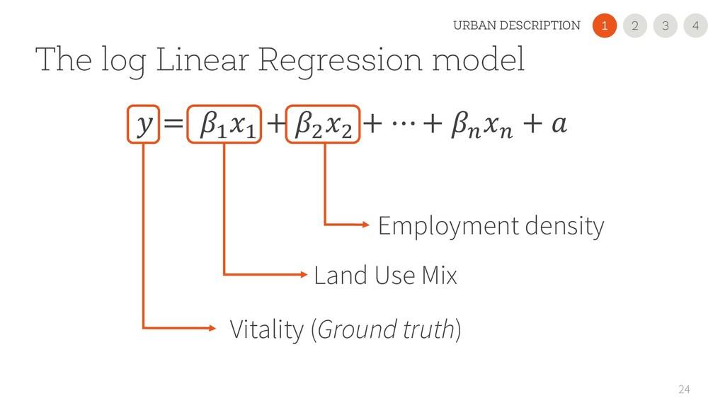 The log Linear Regression model 24 Vitality (Gr...