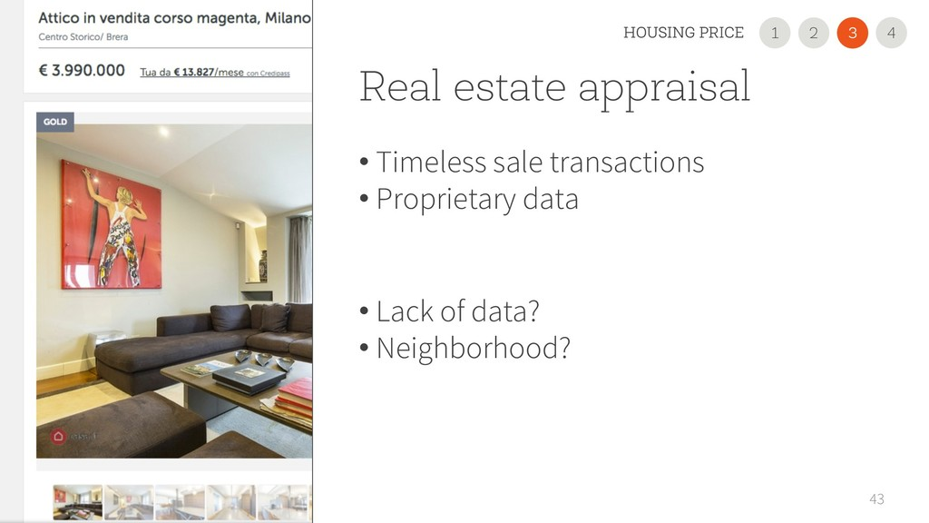Real estate appraisal • Timeless sale transacti...