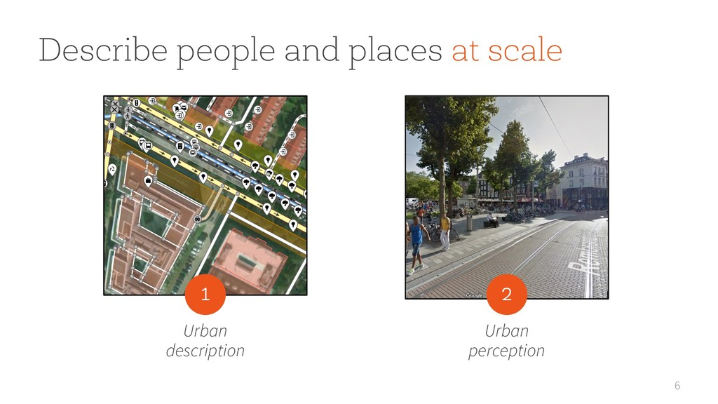 6 Describe people and places at scale Urban des...