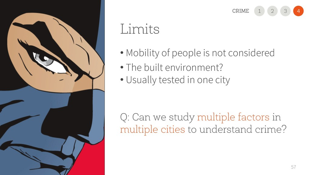 Limits • Mobility of people is not considered •...