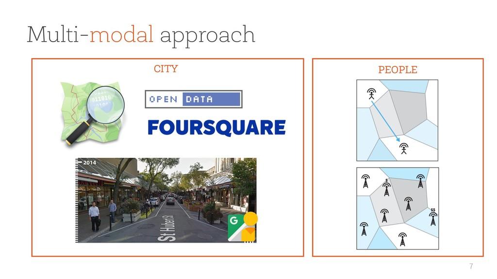 7 CITY PEOPLE Multi-modal approach