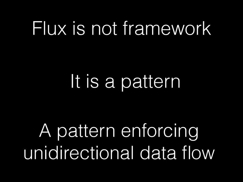 It is a pattern A pattern enforcing unidirectio...