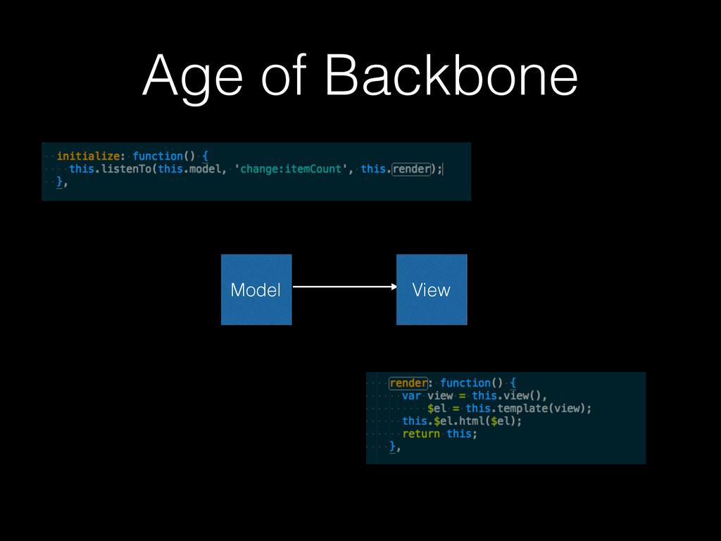 Age of Backbone Model View
