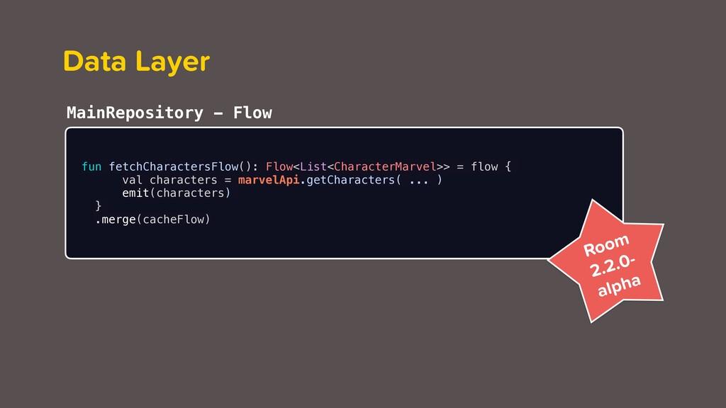 Data Layer fun fetchCharactersFlow(): Flow<List...