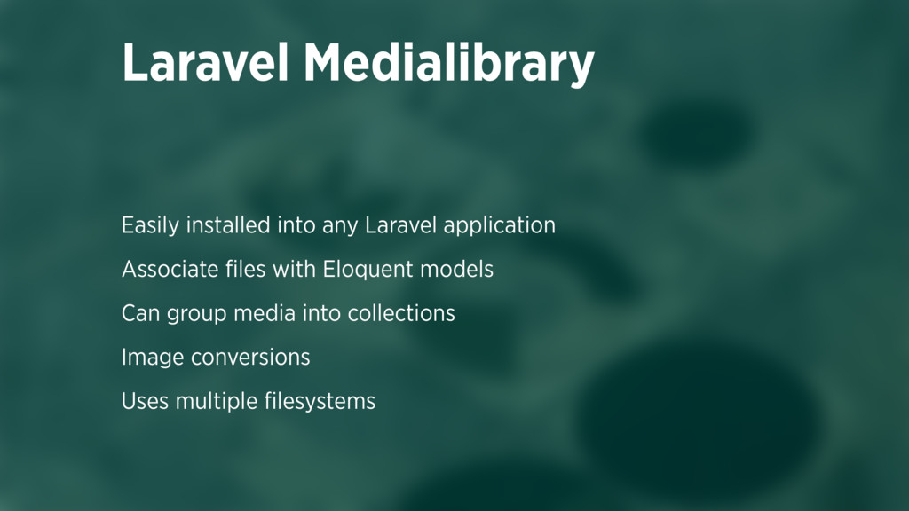 Easily installed into any Laravel application A...