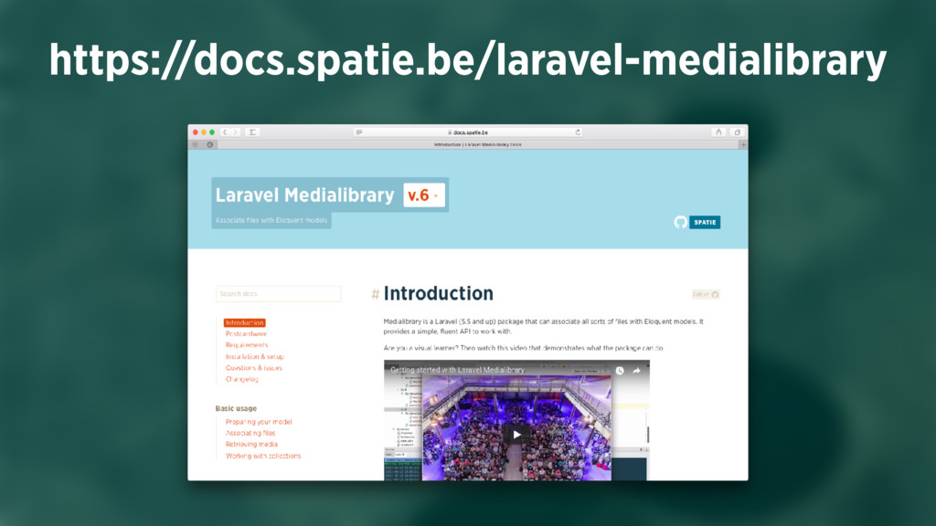 https://docs.spatie.be/laravel-medialibrary