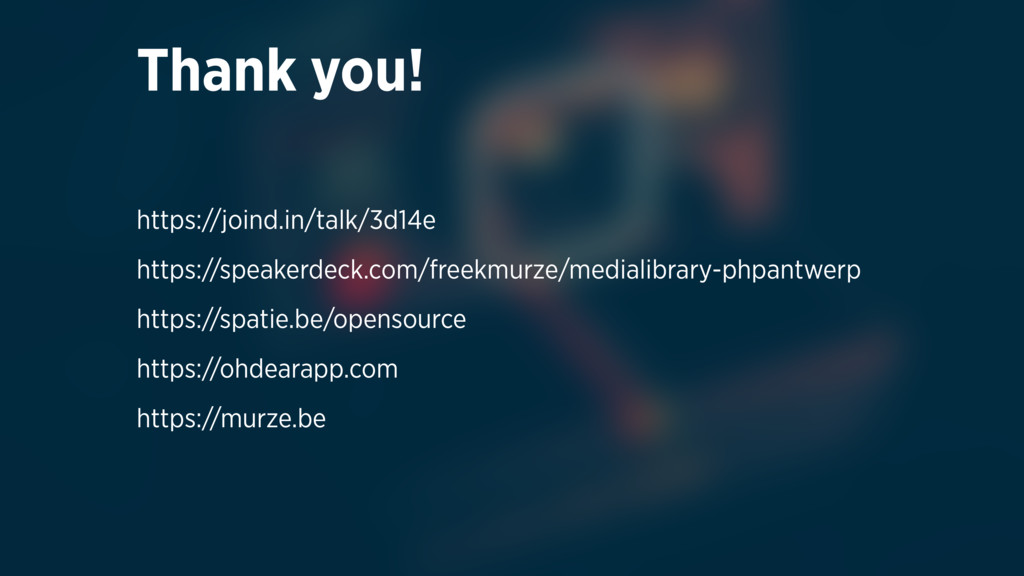 Thank you!  https://joind.in/talk/3d14e https:...