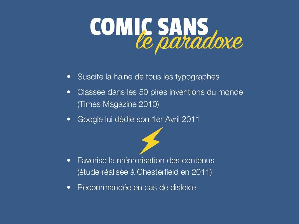 COMIC SANS • Suscite la haine de tous les typog...