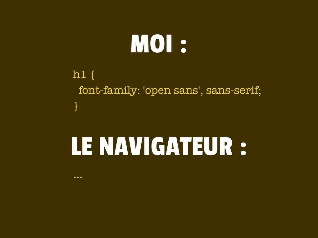 h1 { font-family: 'open sans', sans-serif; } MO...