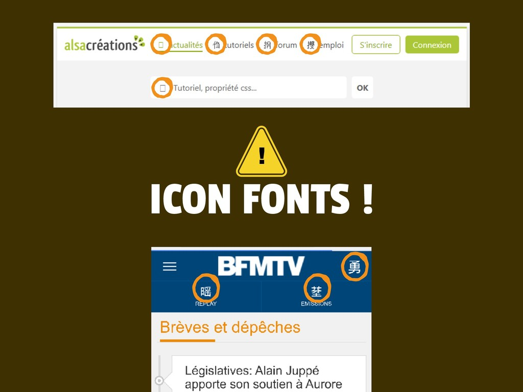 ICON FONTS ! !