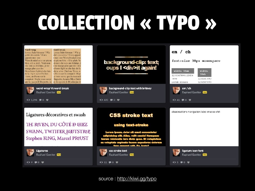 COLLECTION « TYPO » source : http://kiwi.gg/typo