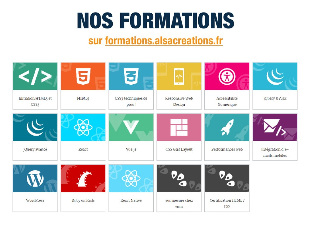 sur formations.alsacreations.fr NOS FORMATIONS