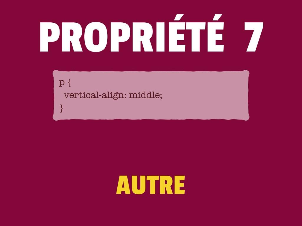 AUTRE PROPRIÉTÉ 7 p { vertical-align: middle; }
