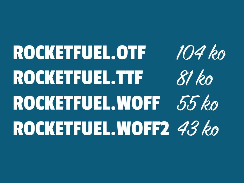 ROCKETFUEL.OTF 104 ko ROCKETFUEL.TTF 81 ko ROCK...
