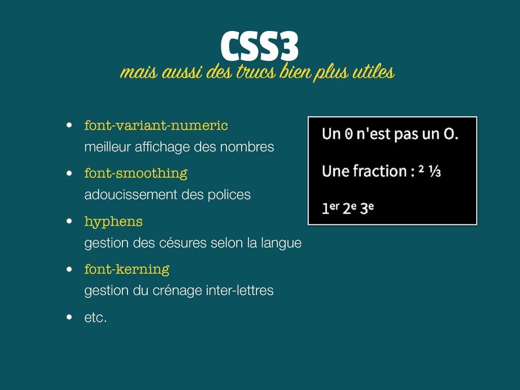 CSS3 • font-variant-numeric meilleur affichage ...