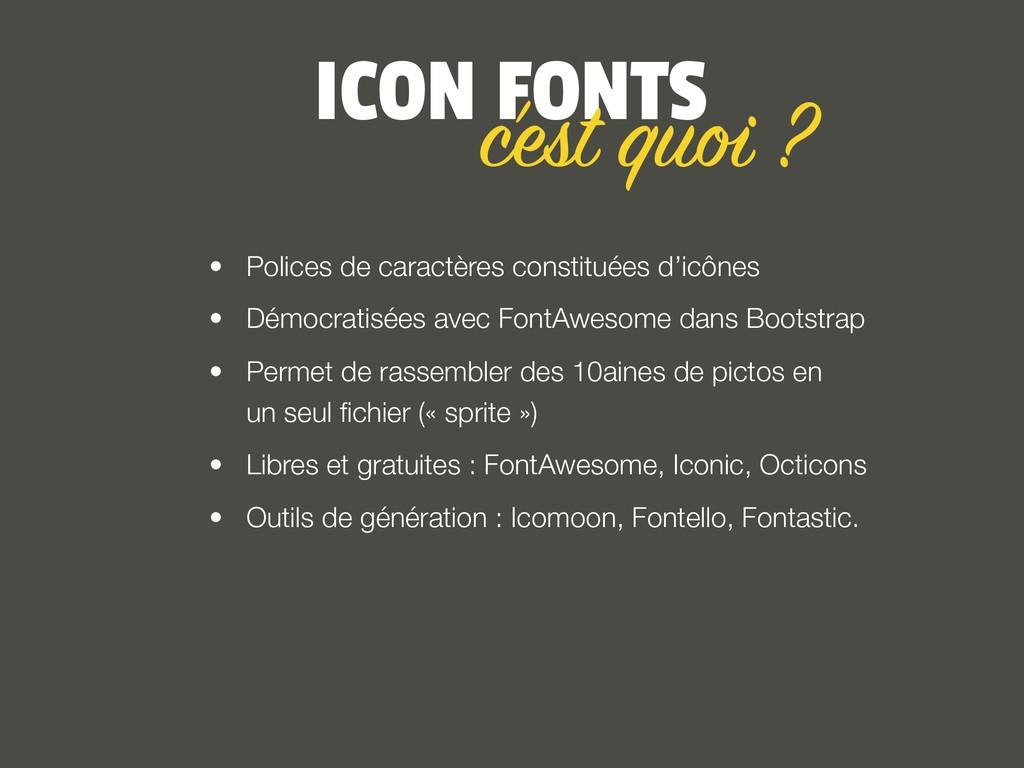 ICON FONTS • Polices de caractères constituées ...