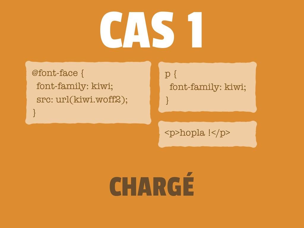 CAS 1 CHARGÉ @font-face { font-family: kiwi; s...