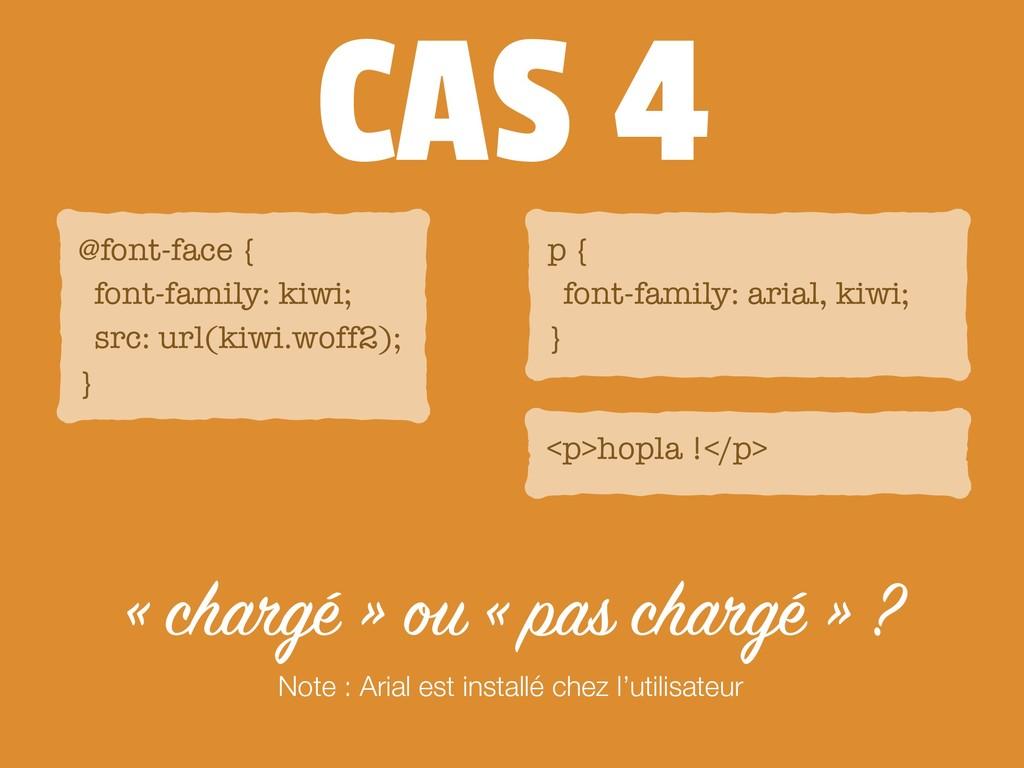 CAS 4 « chargé » ou « pas chargé » ? @font-face...