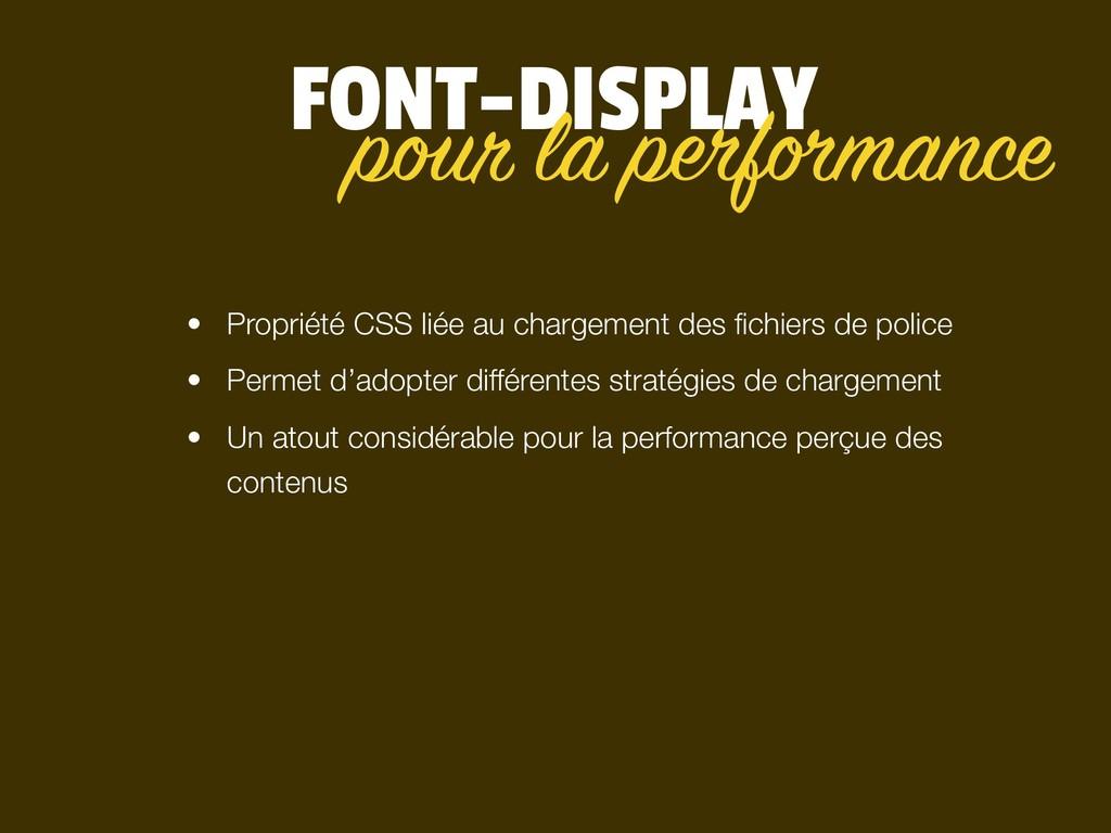 FONT-DISPLAY • Propriété CSS liée au chargement...