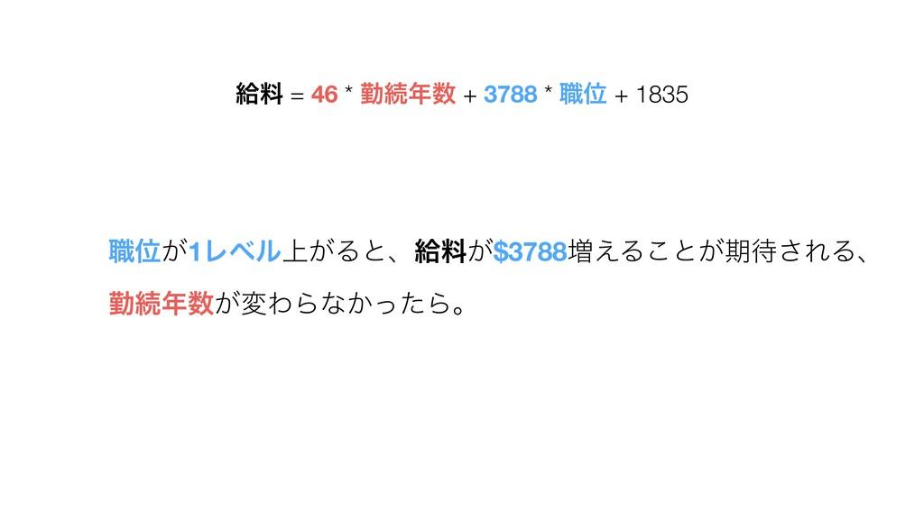 څྉ = 46 * ۈଓ + 3788 * ৬Ґ + 1835 ৬Ґ͕1Ϩϕϧ্͕Δͱɺڅ...