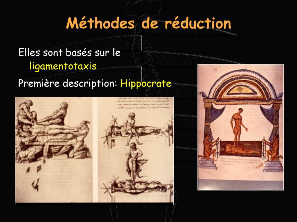Méthodes de réduction Elles sont basés sur le l...