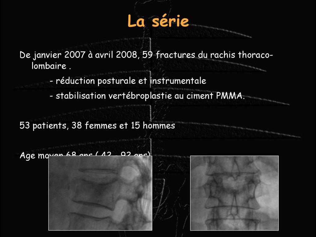 La série De janvier 2007 à avril 2008, 59 fract...