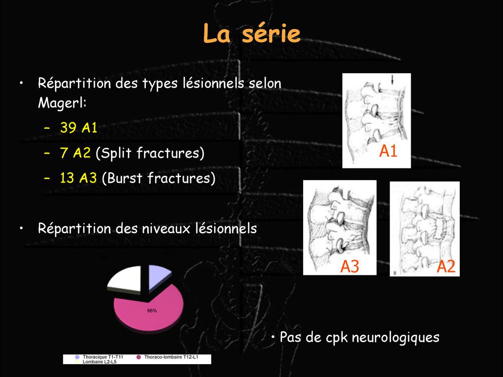 La série • Répartition des types lésionnels sel...