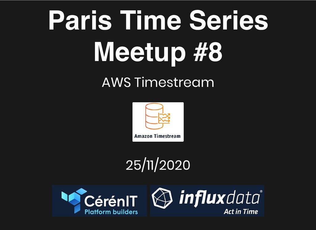 Paris Time Series Paris Time Series Meetup #8 M...