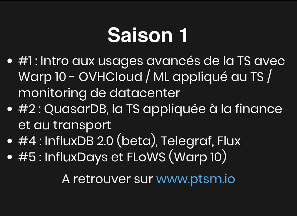 Saison 1 Saison 1 #1 : Intro aux usages avancés...