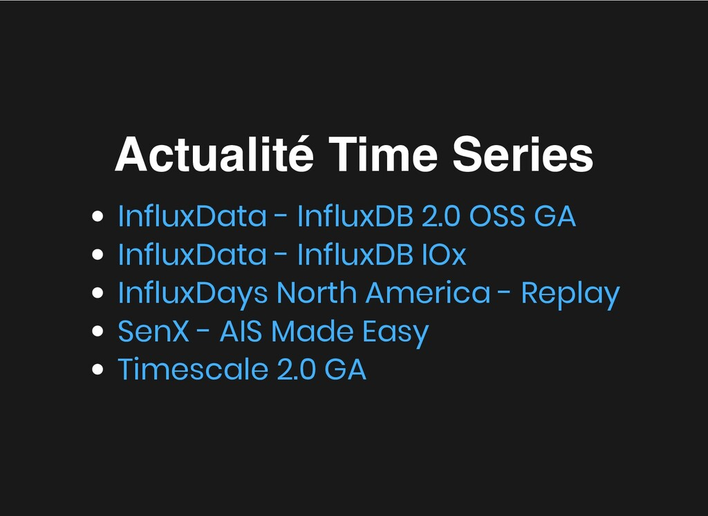 Actualité Time Series Actualité Time Series Inf...