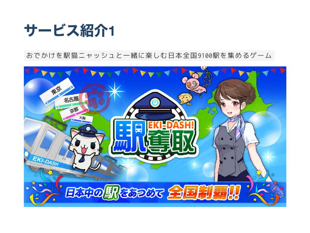 サー ビス紹介1 おでかけを駅猫ニャッシュと一緒に楽しむ日本全国9 1 0 0 駅を集めるゲーム