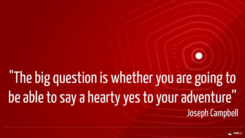 """""""The big question is whether you are going to b..."""