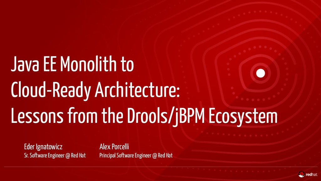 Java EE Monolith to Cloud-Ready Architecture: L...