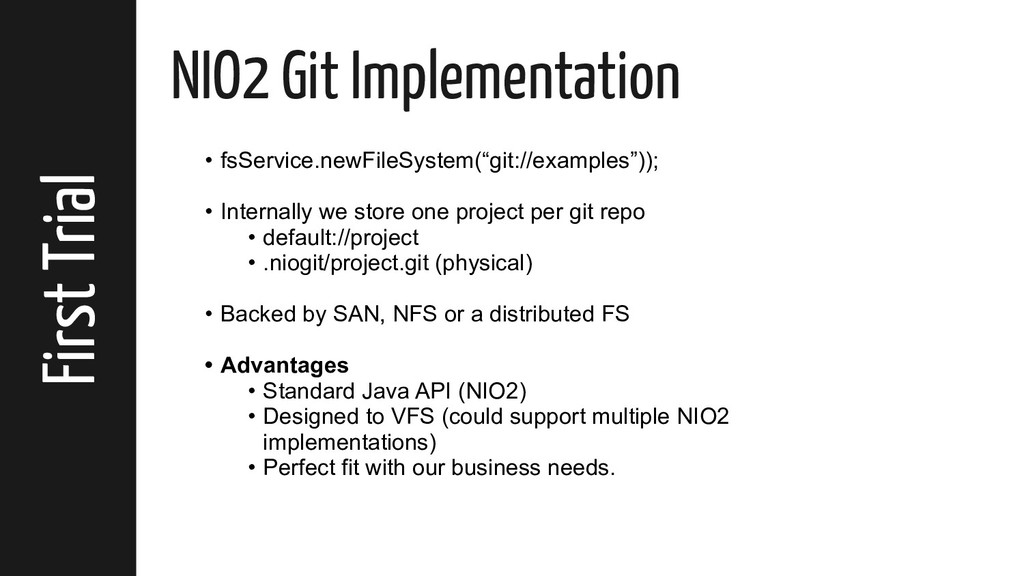 First Trial NIO2 Git Implementation • fsService...