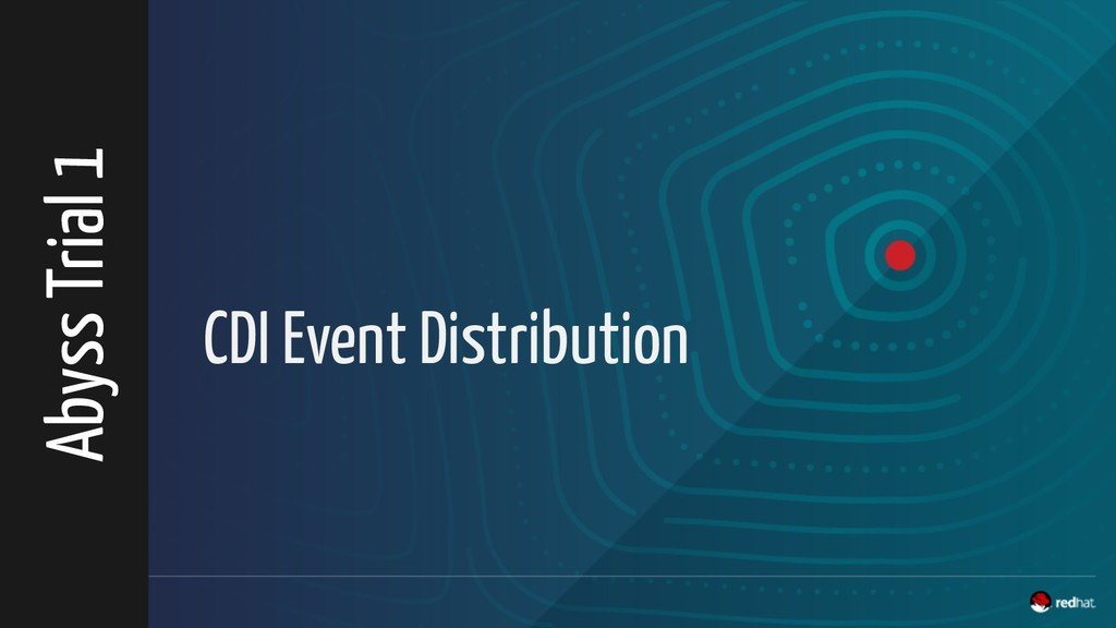 CDI Event Distribution Abyss Trial 1