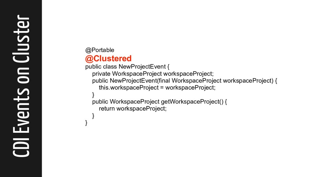 CDI Events on Cluster @Portable @Clustered publ...