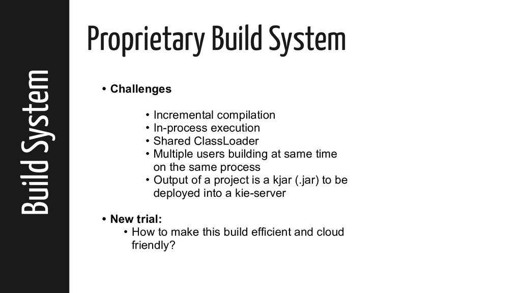 Build System Proprietary Build System • Challen...
