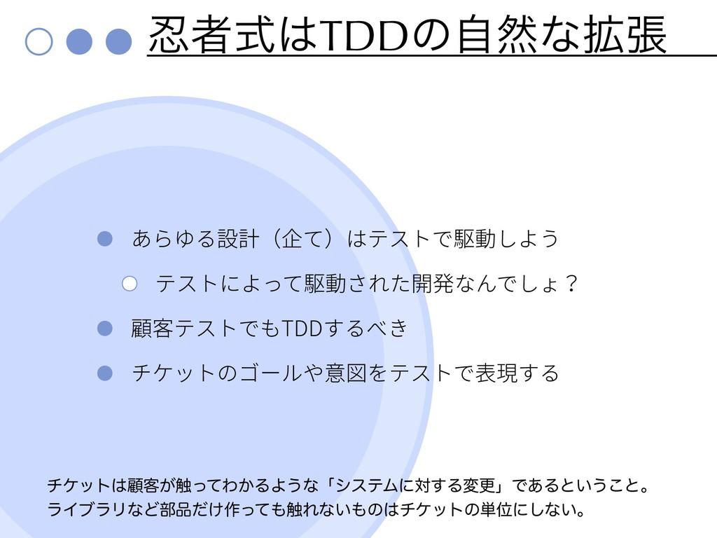 ऀࣜTDDͷࣗવͳ֦ு TDD νέοτސ٬͕৮ͬͯΘ͔ΔΑ͏ͳʮγεςϜʹର͢Δมߋʯ...