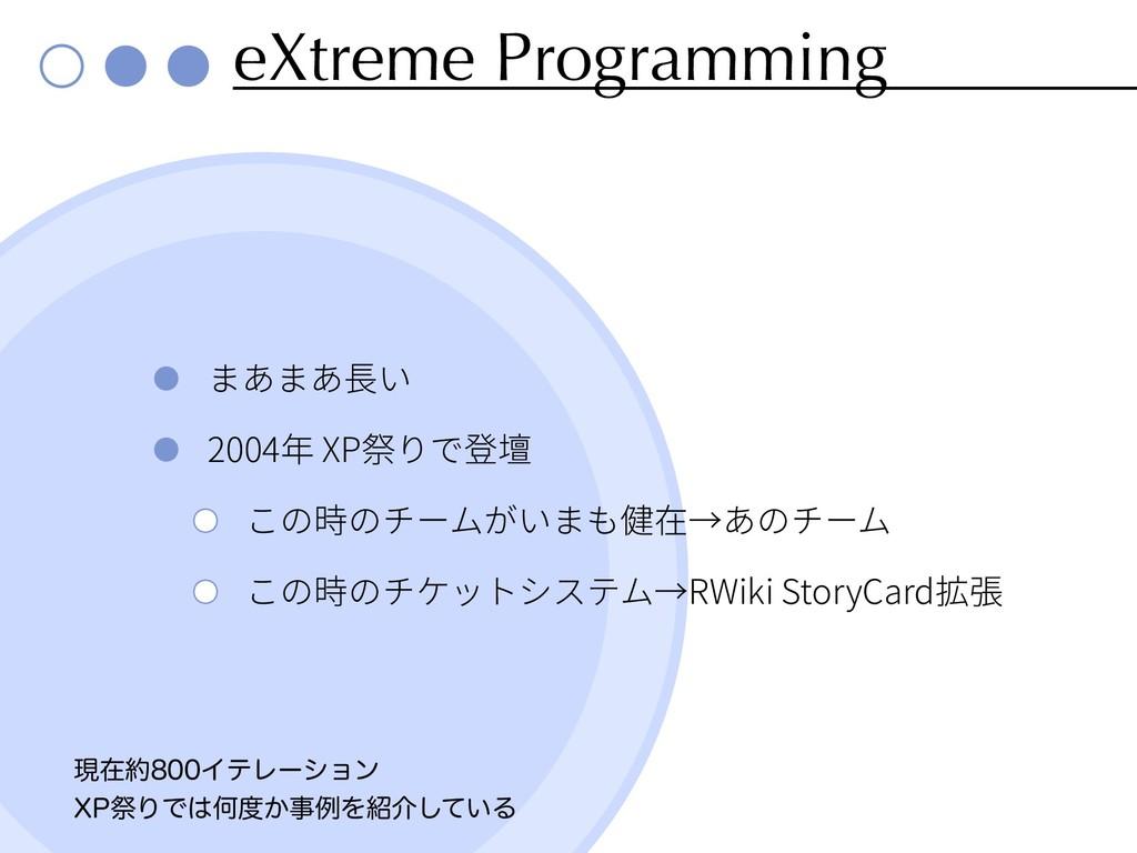 eXtreme Programming 2004 XP RWiki StoryCard ݱࡏ...