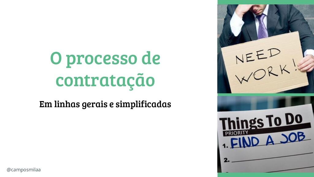@camposmilaa O processo de contratação Em linha...