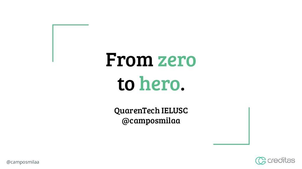 @camposmilaa From zero to hero. QuarenTech IELU...