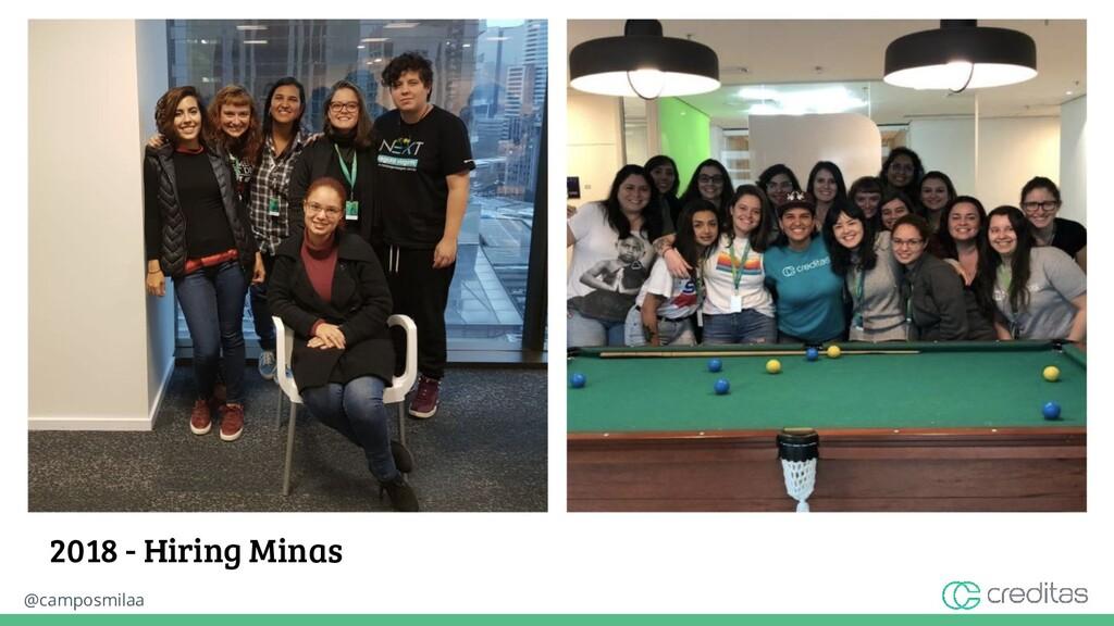 @camposmilaa 2018 - Hiring Minas