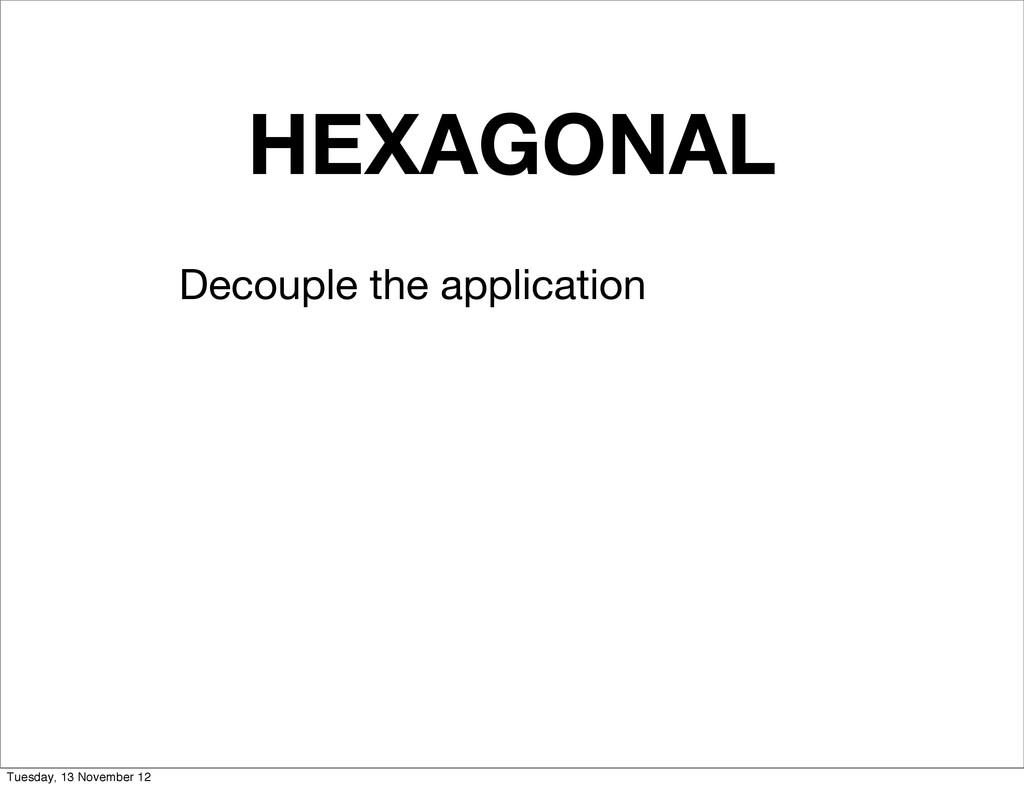HEXAGONAL Decouple the application Tuesday, 13 ...