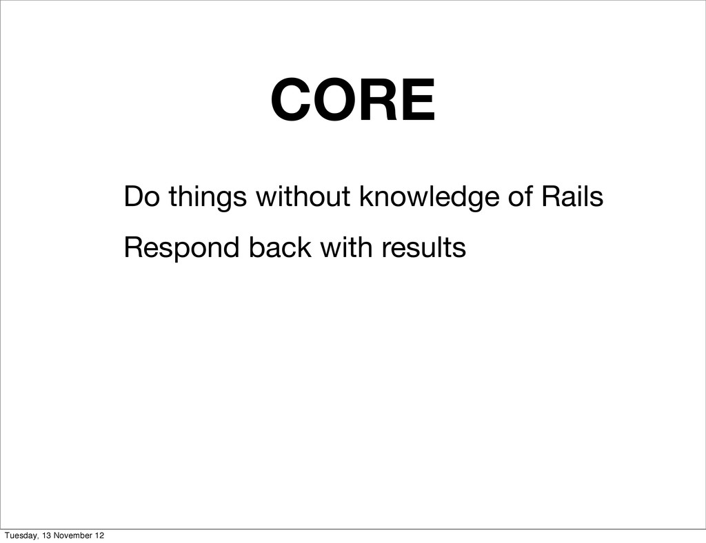 CORE Do things without knowledge of Rails Respo...