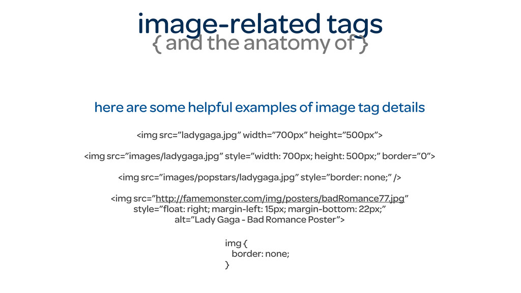 image-related tags { and the anatomy of } here ...