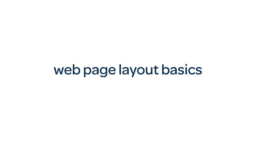 web page layout basics