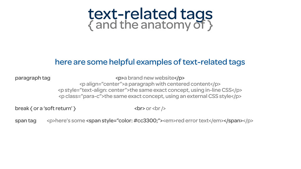 text-related tags { and the anatomy of } here a...