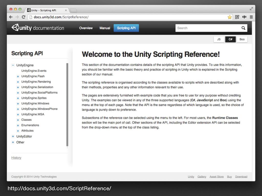 http://docs.unity3d.com/ScriptReference/