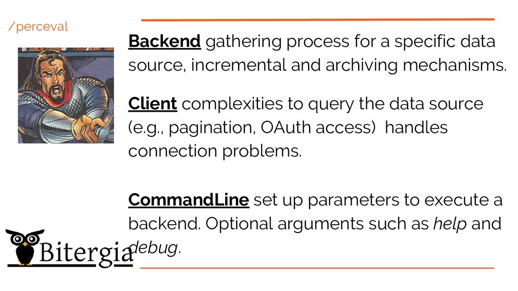 /perceval Backend gathering process for a speci...