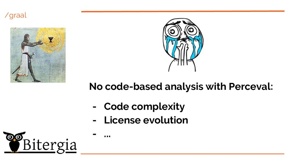 /graal No code-based analysis with Perceval: - ...